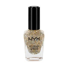 NAIL LACQUER - BOISTEROUS - GOLD FEATHER GLITTER